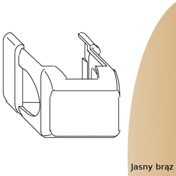 oslonka zawiasu dolnego ramy jasnobrazowa