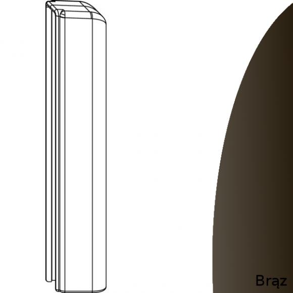 oslonka zawiasu dolnego skrzydła brazowa