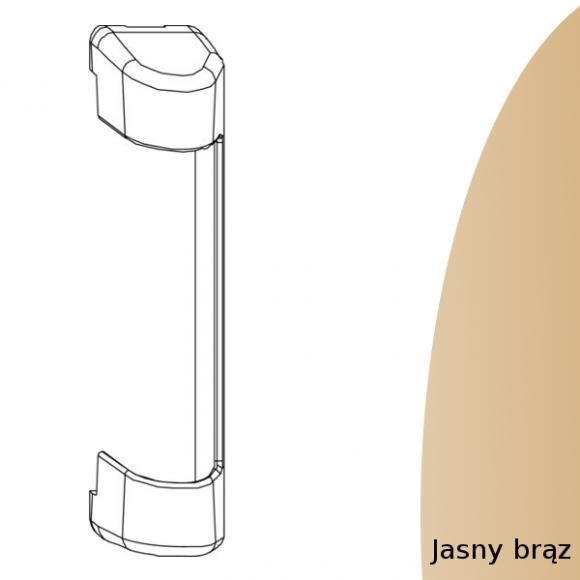 oslonka zawiasu górnego jasny brąz